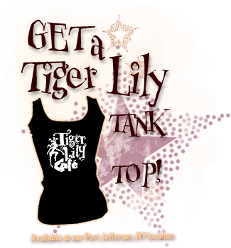 Get a Tiger Lily Tank Top. Available at out Port Jefferson Location